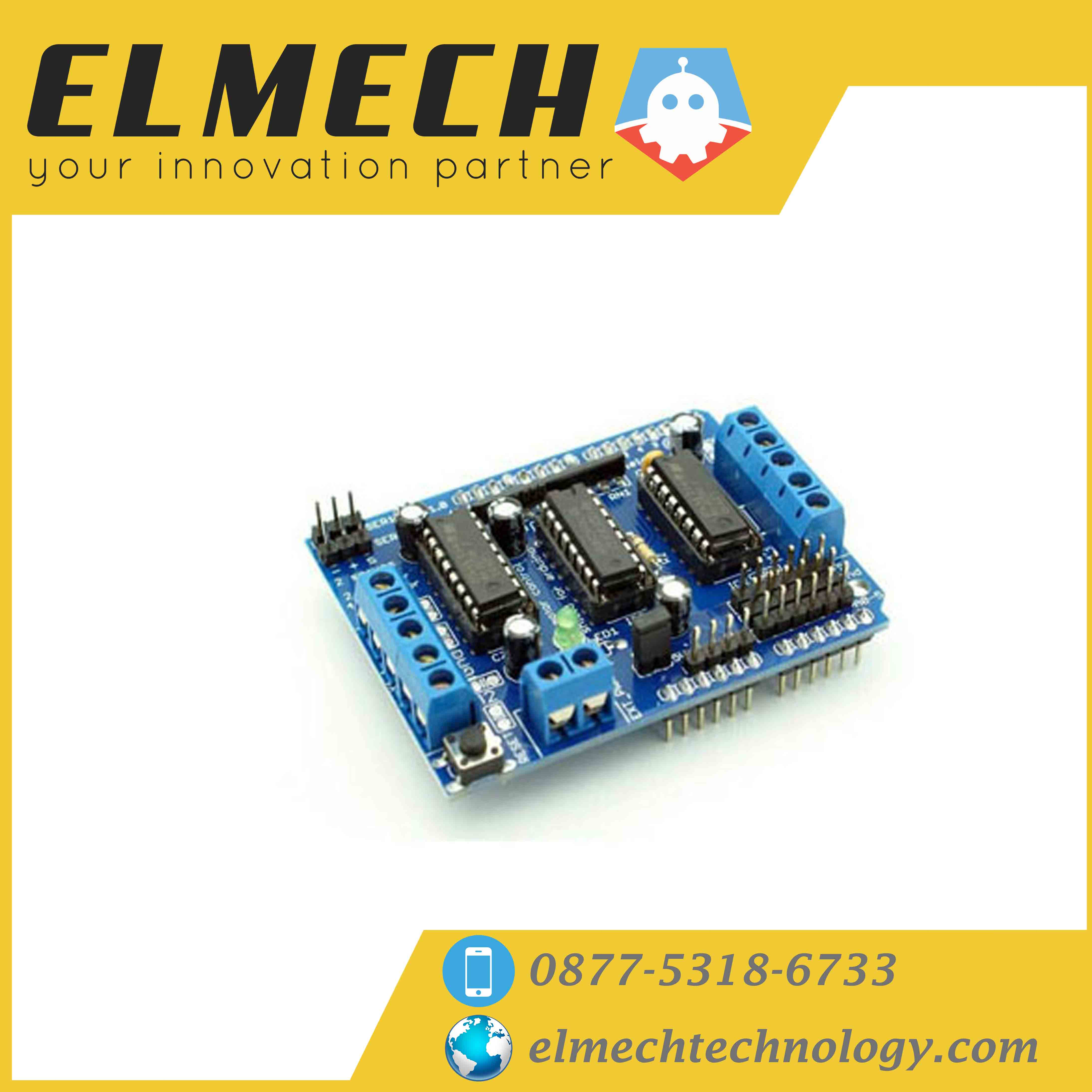 Shield Arduino Driver Motor L293d Elmech Technology Bridge Circuit Bidirectional Control